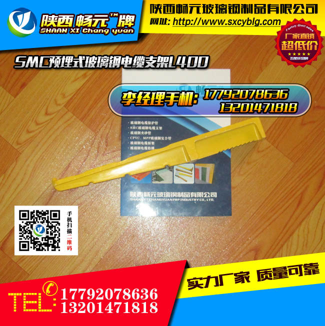 预埋式玻璃钢电缆支架L400侧面图